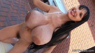 Sexy Breasts Girl Gets A Large Facial! Zuzana Diamond