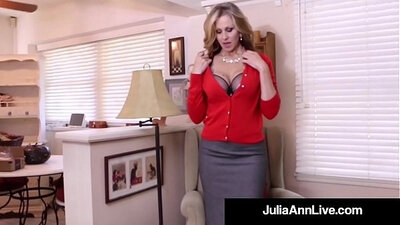 Busty MILF with Dildo in Her Pussy