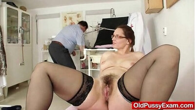 Close up of Milf Wifes hairy pussy