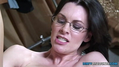 Insatiable babe with big tits rides huge dick