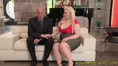 Plumper gets anal fucked and cum