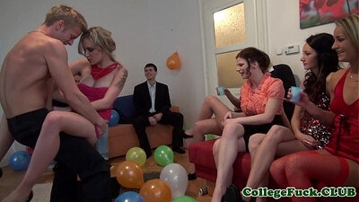 college sex party she receives monster loads of jizz