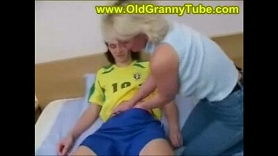 Blonde mommy copulated by her son in law
