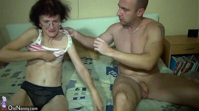 Really young horny redhaired granny fucked